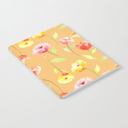 Orange Poppy Pattern 06 Notebook
