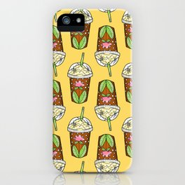 Cute Iced Coffee Cups - Yellow  iPhone Case