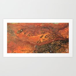Mars mixed media on canvas, abstract art painting designs, contemporary artist colorful design Art Print