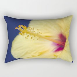 Kihei Hawaii Yellow Hibiscus Flowers Rectangular Pillow