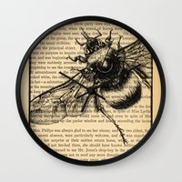 pride and prejudice Wall Clocks featuring Pride & Prejudice, Page 51 by Rebecca Loomis