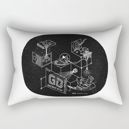 Grazing in the Space Rectangular Pillow