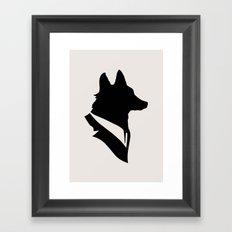 Monsieur Renard / Mr Fox - Animal Silhouette Framed Art Print