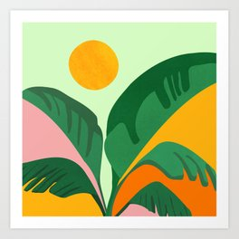 Things Are Looking Up / Tropical Greenery Art Print