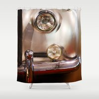 silver Shower Curtains featuring Silver by Lia Bernini