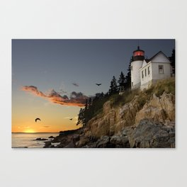 Bass Harbor Head Lighthouse Acadia National Park Canvas Print