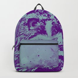 owl portrait 5 wspb Backpack
