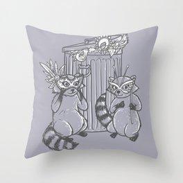 Fancy Raccoons Throw Pillow