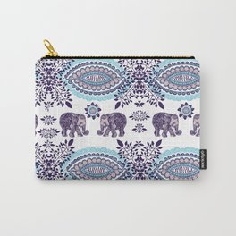 Boho Elephant Pattern Carry-All Pouch