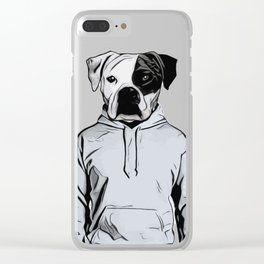 Cool Dog Clear iPhone Case