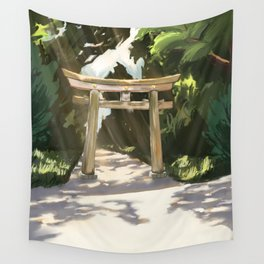 A Walk in Tokyo Wall Tapestry