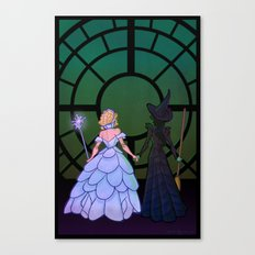 Glinda and Elphaba Canvas Print