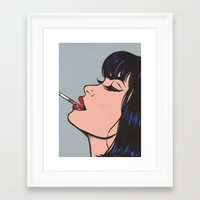 smoking Framed Art Prints featuring Smoking by turddemon