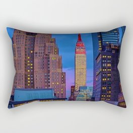 The New Yorker, 481 8th Ave, New York, NY, A Portrait by Jeanpaul Ferro Rectangular Pillow