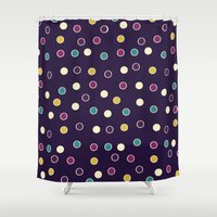 polka dots Shower Curtains featuring Polka Dots! by Swanky Swaz Designs