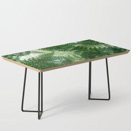 green big jungle leaves Coffee Table