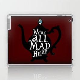 """We're all MAD here"" - Alice in Wonderland - Teapot - 'Tulgey Wood Brown' Laptop & iPad Skin"
