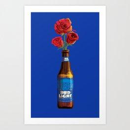 Dudes Love Roses (Blue) Art Print