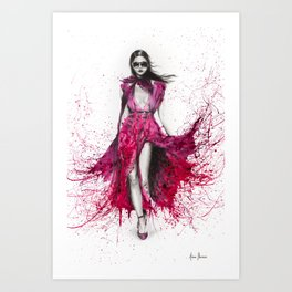 Autumn Fashion Rose Art Print