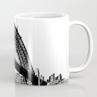 sydney Mugs featuring sydney by Jette Geis