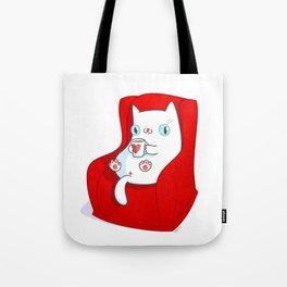 Kitty Loves Tea Tote Bag