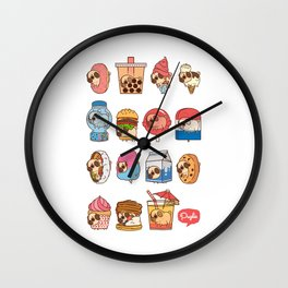 Puglie Food Collection 3 Wall Clock