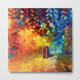 British Red Phone box Metal Print