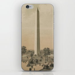 Vintage Washington Monument Illustration (1886) iPhone Skin