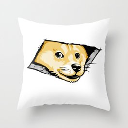 Ceiling Doge Throw Pillow