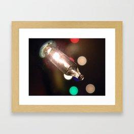 Christmas lights. Framed Art Print