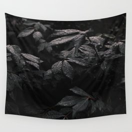 Black Leaf Wall Tapestry