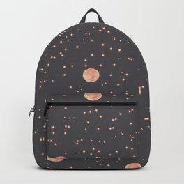 Rosè Moon Pattern Backpack
