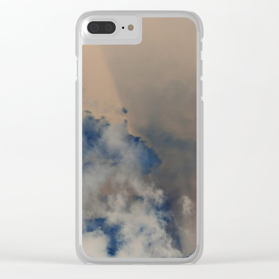 Deep Time Clouds Clear iPhone Case