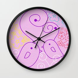 The Birds and the Flowers Wall Clock