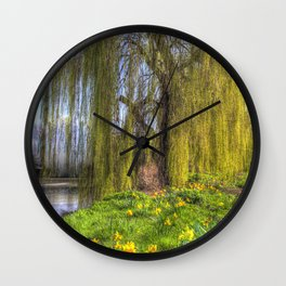 Daffodils and Willow Tree Wall Clock
