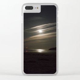 Moon bounce Clear iPhone Case