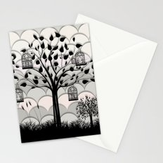 Paper landscape B&W Stationery Cards