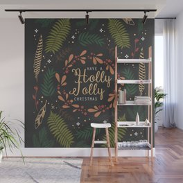 Have a Holly Jolly Christmas Wall Mural