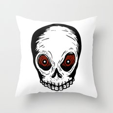 Evil Skull Throw Pillow