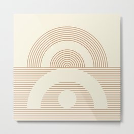 Geometric lines in Neutral Colors 12 (Sunrise and Sunset) Metal Print
