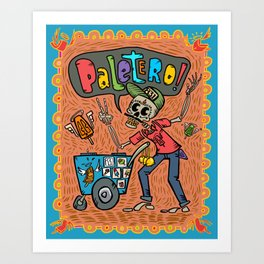 Day of the Dead PALETERO Sings with Angel Popsicles Art Print