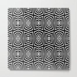 Zebra Fur Pattern Metal Print