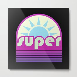 super duper ultraviolet Metal Print