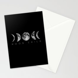 Moon Child Moon Phases Stationery Cards