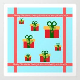 Merry Christmas and christmas gifts Art Print