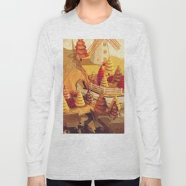 Cartoon scene in Low Poly style Long Sleeve T-shirt