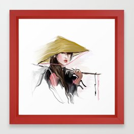 Vietnamese girl Framed Art Print