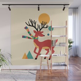 Deer Autumn Wall Mural