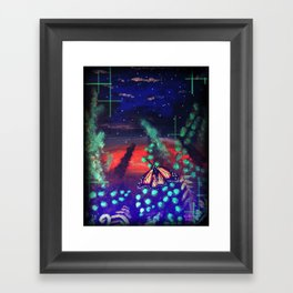 A Monarch Night Framed Art Print
