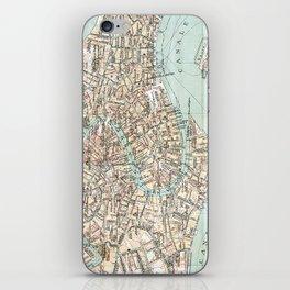 Vintage Venice Map iPhone Skin